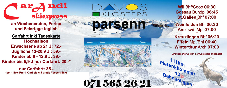 Skiexpress Davos Parsenn / Jakobshorn